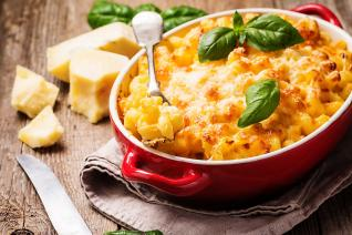 Mac and cheese je klasický americký recept.