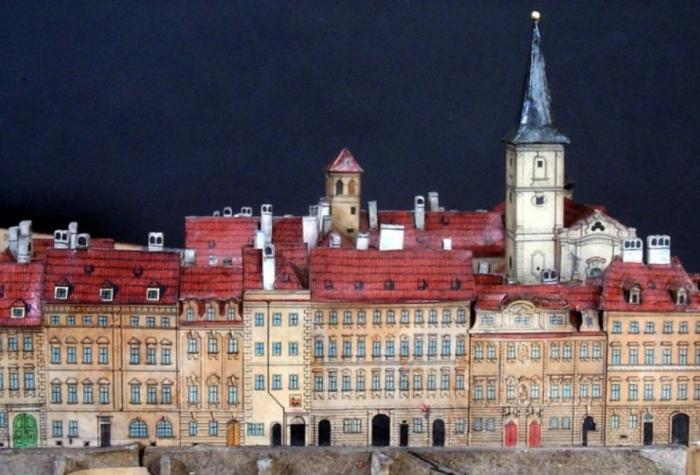 V tomto muzeu najdeš model Prahy vyrobený z lepenky.