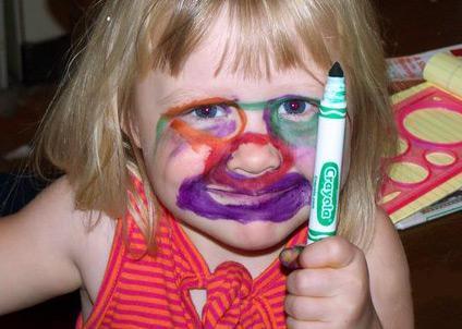 Děti se malují.