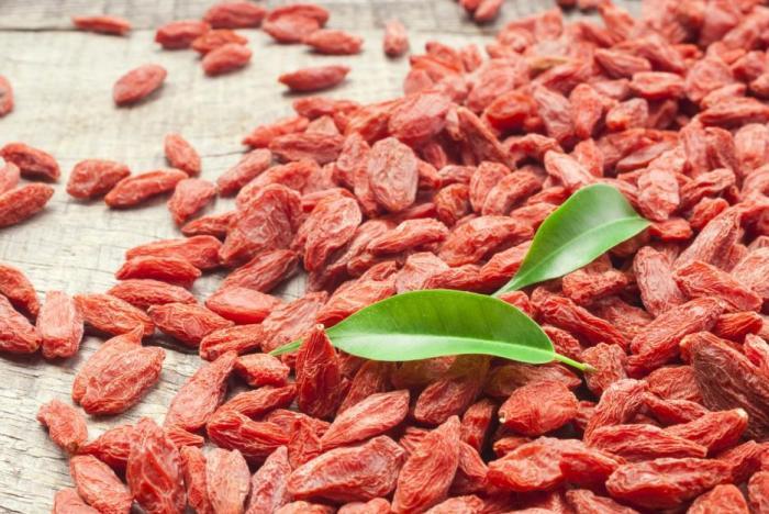 Goji je nabité vitamíny a minerály.