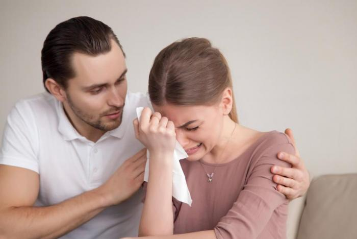 Pláč ulevuje při trápení.