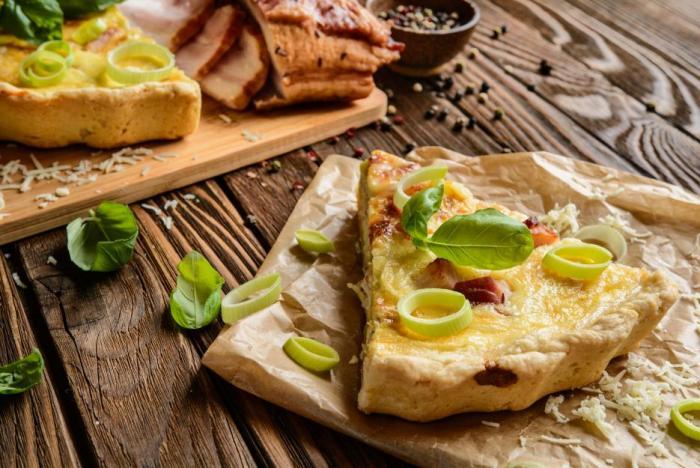 Quiche se původně dělal z chlebového těsta.
