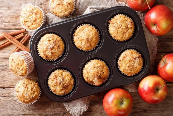 Jablečné muffiny se nemusí doslazovat.