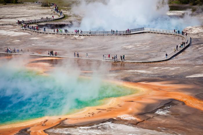Národní park Yellowstone je jedním z nejkrásnějších míst v USA.